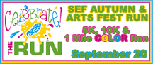 SEF Autumn & Arts Fest Run
